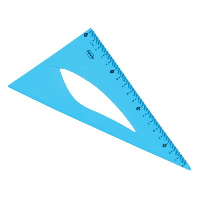 Триъгълник Centrum, правоъгълен, 18cm, син image