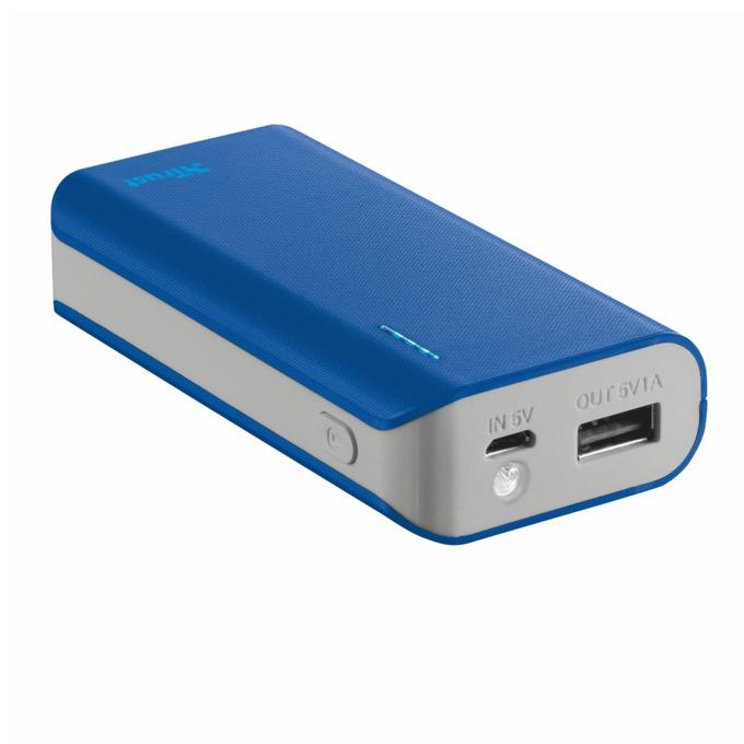 Външна батерия/power bank TRUST Primo 4400, 4400 mAh, синя image