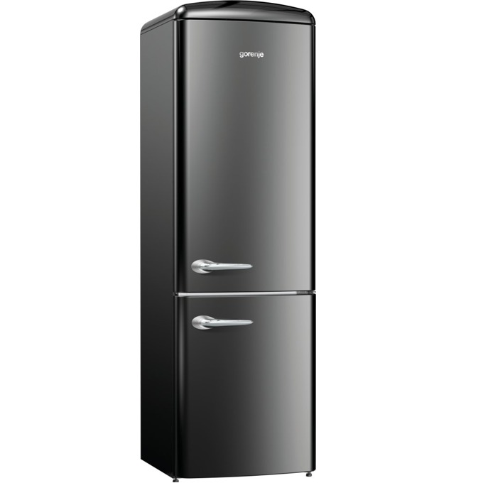 Хладилник с фризер Gorenje ORK 192 BK, клас A++, 326 л. общ обем, свободностоящ, 234 kWh/годишно, AdaptTech, CrispZone, XXL SpaceBox, FreshZone, черен image