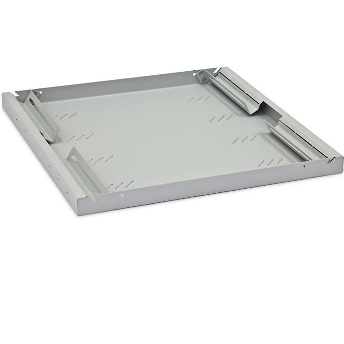 "19"" shelf, depth 250 mm, height 1U, товароносимост 20кг, перфорирана, сива image"