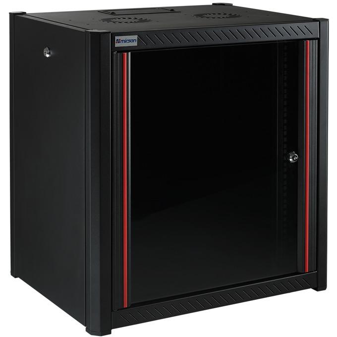 """Комуникационен шкаф Mirsan MR.WTN09U66.01, 19"""", 9U, 600mm, черен, за стена image"""