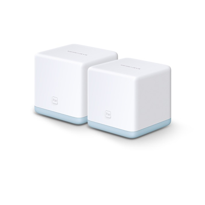 Рутер Mercusys Halo S12 2-pack, 1200Mbps, 2.4GHz (300 Mbps)/ 5GHz (867Mbps), Wireless AC, 2x LAN/WAN 10/100 Mbps image