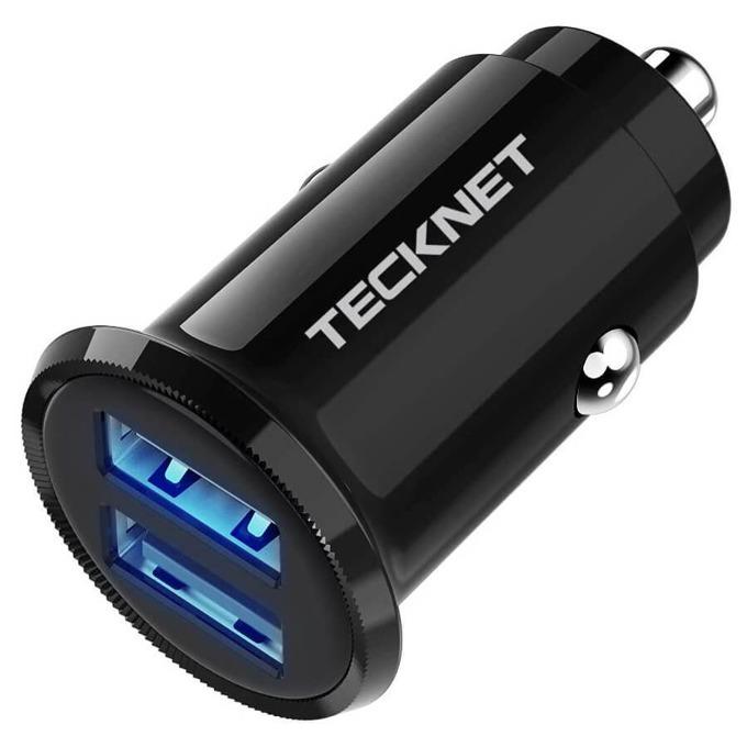 Зарядно за устройство за кола TeckNet ECC01001BA01, от автомобилна запалка към 2x USB A(ж), 5V / 2.4A, черно image