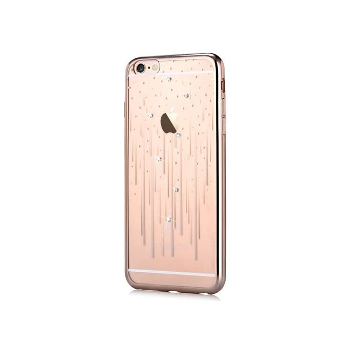 Силиконов протектор (с кристали Сваровски) Devia за Apple iPhone 6 и iPhone 6S, златист image