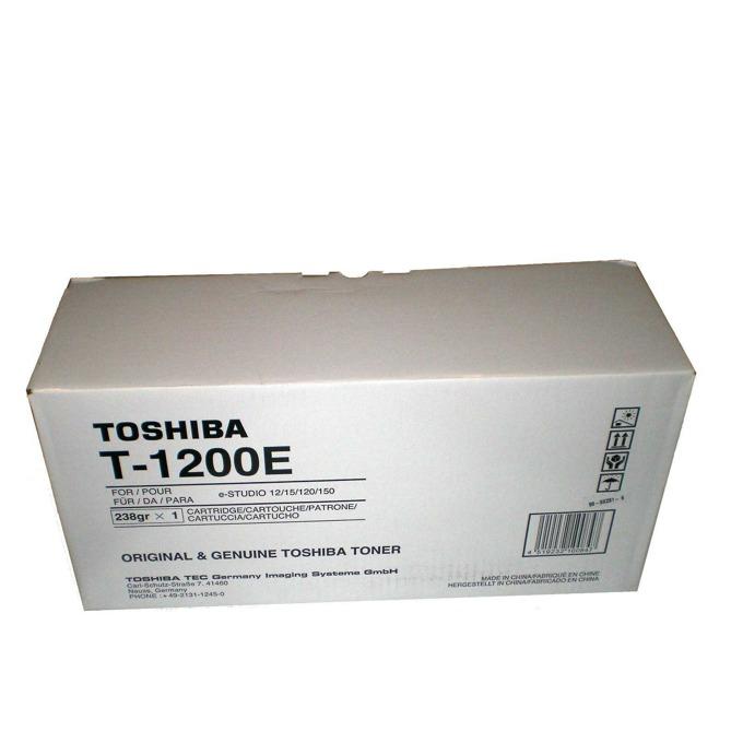 TОНЕР ЗА КОПИРНА МАШИНА TOSHIBA eStudio 12/15/120/150 - P№ T-1200E - 1pcs. - заб.: 238gr. image