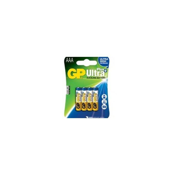 Батерия алкална GP Ultra PLus AAA, 1.5V, 4 бр.