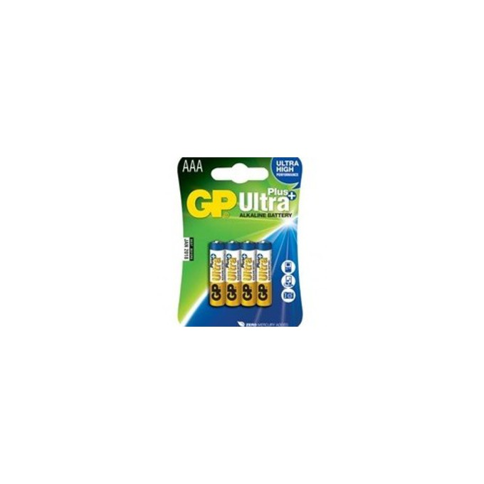 Батерии алкални GP Ultra PLus AAA, 1.5V, 4 бр.   image