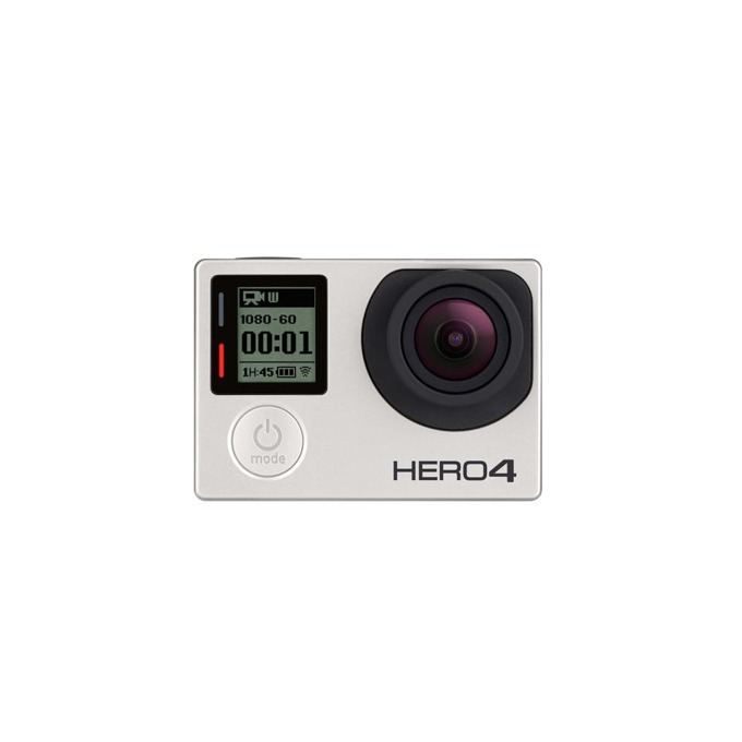 "Екшън камера GoPro HERO4 Silver Edition, Full HD, 1.7""(4.31cm), LCD тъч дисплей, Micro SD, HDMI output, USB 2.0, accessory port, composite video/audio output, microphone, Bluetooth, Wireless LAN image"