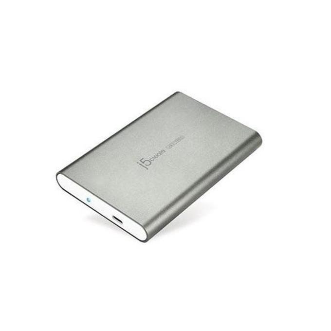 """Кутия за твърд диск j5create JEE253, за 2.5"""" (6.35 cm) SATA HDD, USB Type C, сива image"""