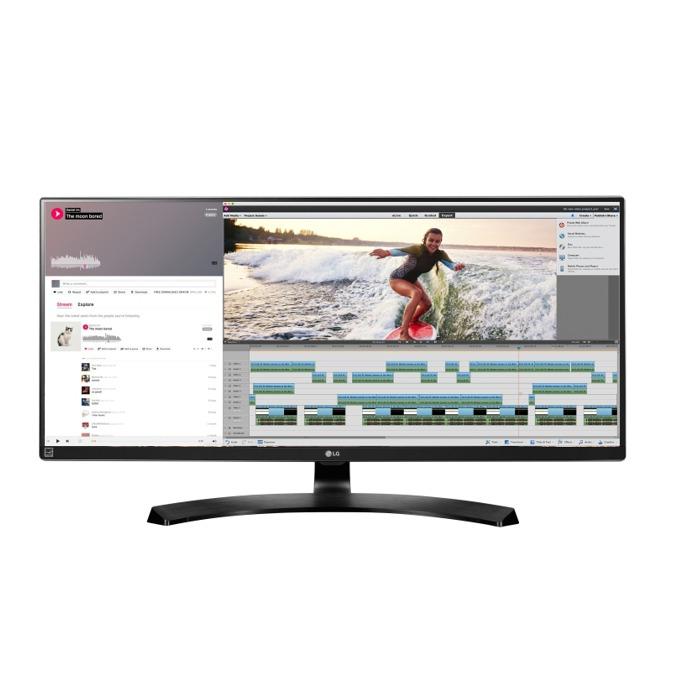 """Монитор LG 34UM88(34UM88-P), 34"""" (86.36 cm), IPS панел, 5ms, UWQHD, 5 000 000:1, 300 cd/m2, 2x HDMI, 2x Thunderbolt, Display Port, USB image"""