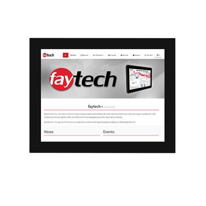 "Дисплей Faytech FT15HDKTMHBCAPOB, тъч дисплей, 15"" (38.1 cm), XGA, HDMI, DVI-D, VGA, USB, RS232 image"