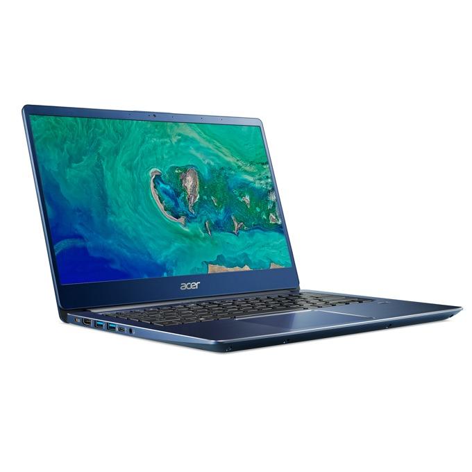 "Лаптоп Acer Swift 3 SF314-56G-56EU (NX.H4YEX.001)(син), четириядрен Whiskey Lake Intel Core i5-8265U 1.6/3.9 GHz, 14"" (35.56 cm) Full HD Anti-Glare Display, (HDMI), 8GB DDR4, 1TB HDD, 1x USB Type C, Free DOS, 1.5 kg image"