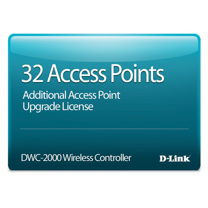 Service Pack D-Link DWC-2000-AP32-LIC, за D-Link DWC-2000, 32 Access Points image