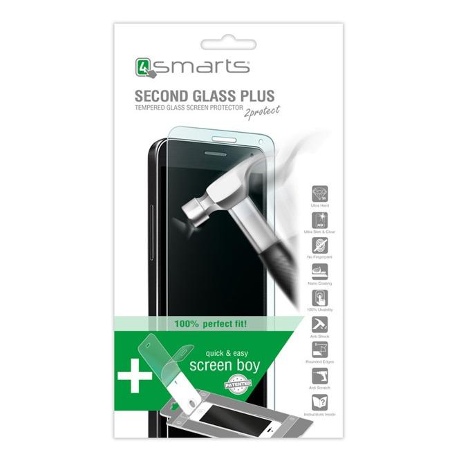Протектор от закалено стъкло /Tempered Glass/, 4Smarts за Sony Xperia Z5 Compact, в комплект с уред за поставяне на стъкло image