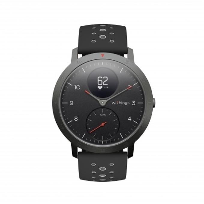 Смарт часовник Nokia Steel HR Sport, 40mm, измерване на крачки и пулс, до 25 дни време за работа, черен image