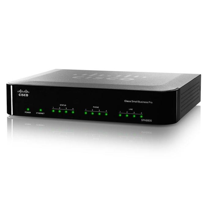Cisco SPA8800 телефонен адаптер с 4 порта за VoIP