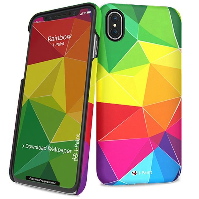 Калъф за Apple iPhone XS, поликарбонатов, iPaint Rainbow HC 860107, щампа image