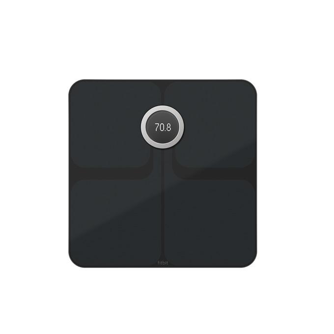 Цифров кантар Fitbit Aria 2, Bluetooth, Wi-Fi, водоустойчив, капацитет 180 кг, LCD дисплей, черен image