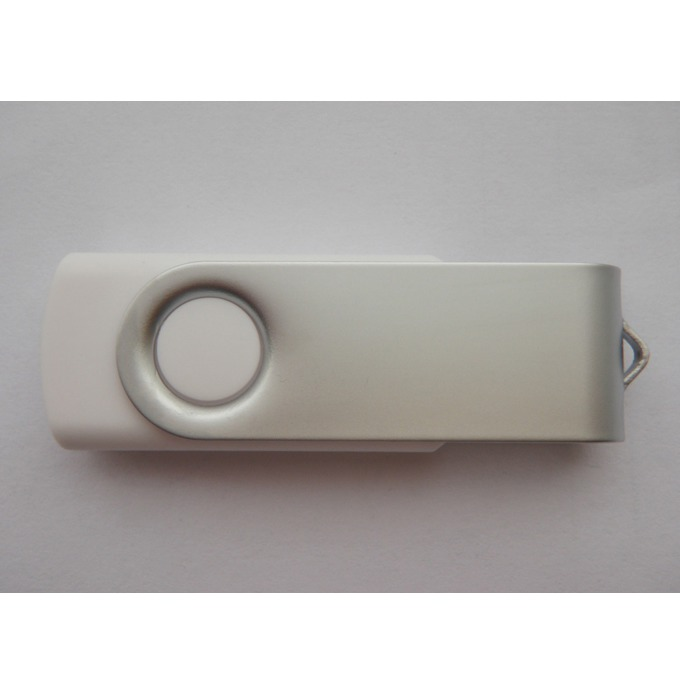 "4GB USB Flash Drive, Estillo ""SD-01"", без лого, USB 2.0, бяла image"
