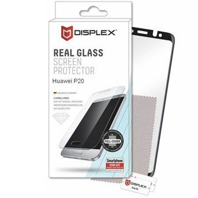 Протектор от закалено стъкло /Tempered Glass/, Displex 00904, за Huawei P20, черна рамка image