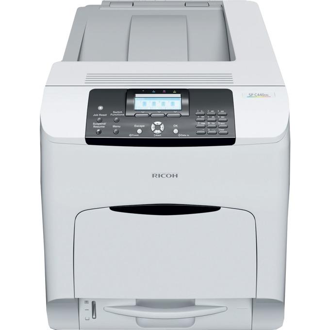 RICOH SP C440DN, лазерен цветен принтер, A4, 1200х1200dpi, 40 стр/мин, USB, LAN image