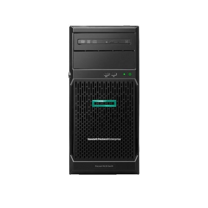 Сървър HPE ML30 G10 (P06793-425), четириядрен Intel Xeon E-2134 3.5GHz, 16GB DDR4 UDIMM, 2x 1Gb, 1x VGA, 6x USB 3.0, 500W захранване image