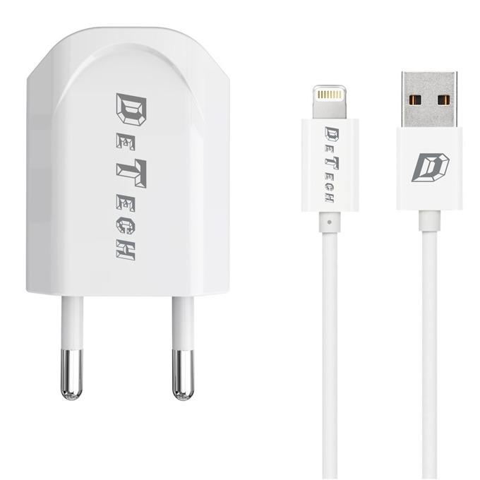 DeTech DE-11i 5V/1A, 220V, 1 x USB А(ж) бял 14116