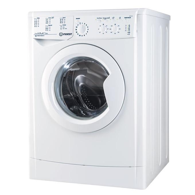 Перална машина Indesit IWC 71253 ECO EU, клас А+++, капацитет 7 кг, 1200 об./мин, 16 програми, свободностояща, ширина 59.5 см, бяла  image