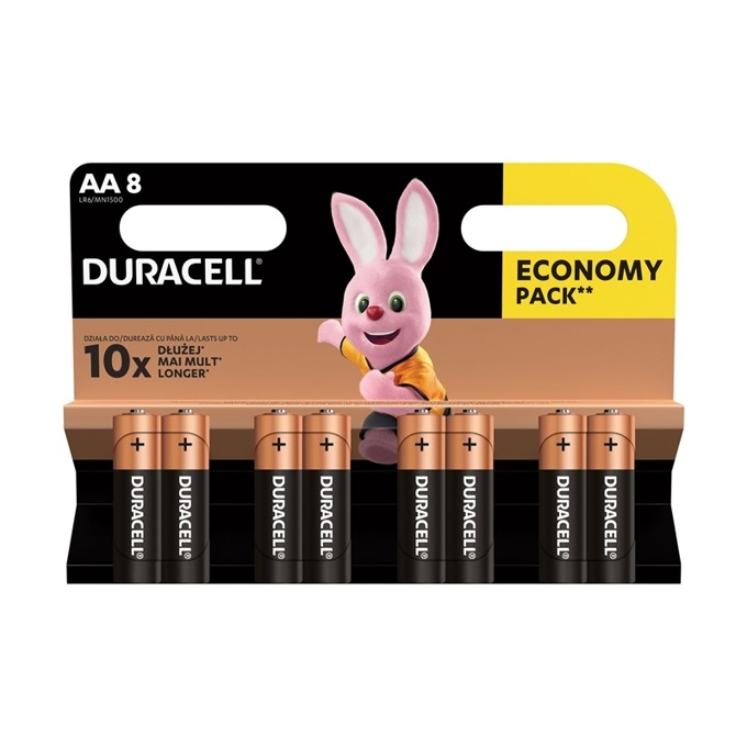 Duracell AA LR6 1.5V 8 pieces