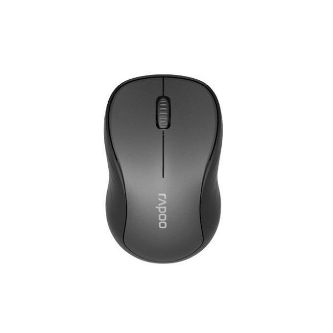 Мишка Rapoo M260, безжична (Bluetooth 4.0/2.4GHz), оптична(1300dpi), до 10м обхват, USB, черна image