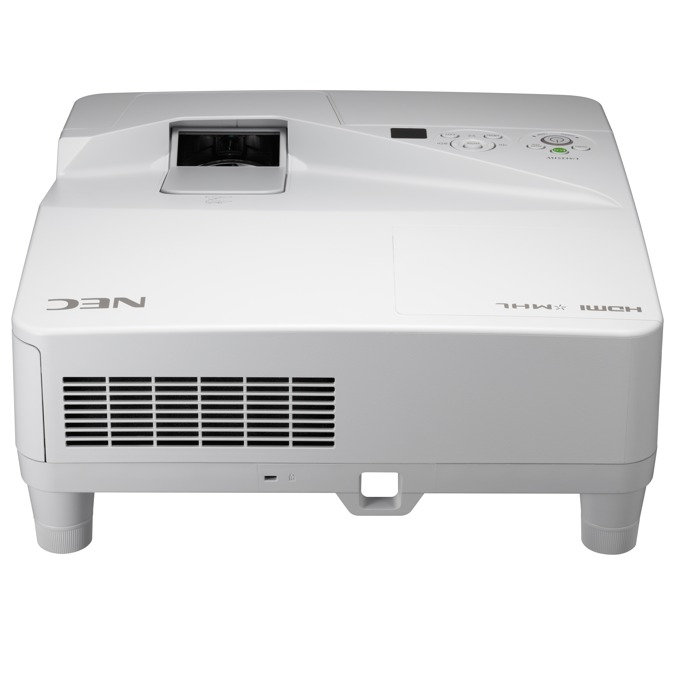 Проектор NEC UM361X, LCD, XGA (1024x768), 6000:1, 3600 lm, VGA, HDMI, RS232, RCA, USB, LAN, бял image