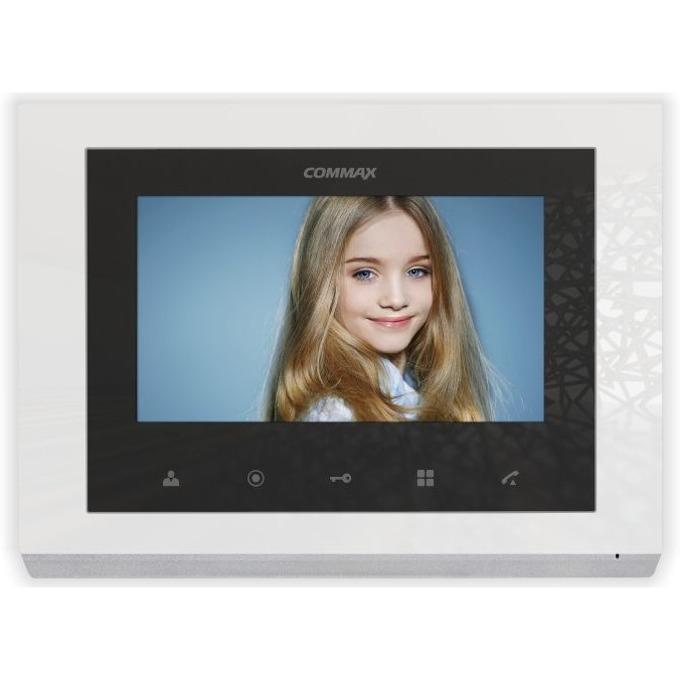 """Цветен Видеодомофон Commax CMV-70S-W, до 2 камери/2 монитора/ 2 интерфона, TFT Wide Screen, 7"""" image"""
