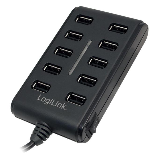 LogiLink UA0125 USB HUB 10xUSB2.0, Ext. power