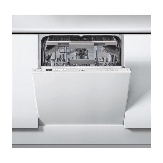 Съдомиялна за вграждане Whirlpool WIC 3C23 PEF, клас А++, 14 комплекта, 6-то чувство, 8 програми, Eco цикъл, бяла image