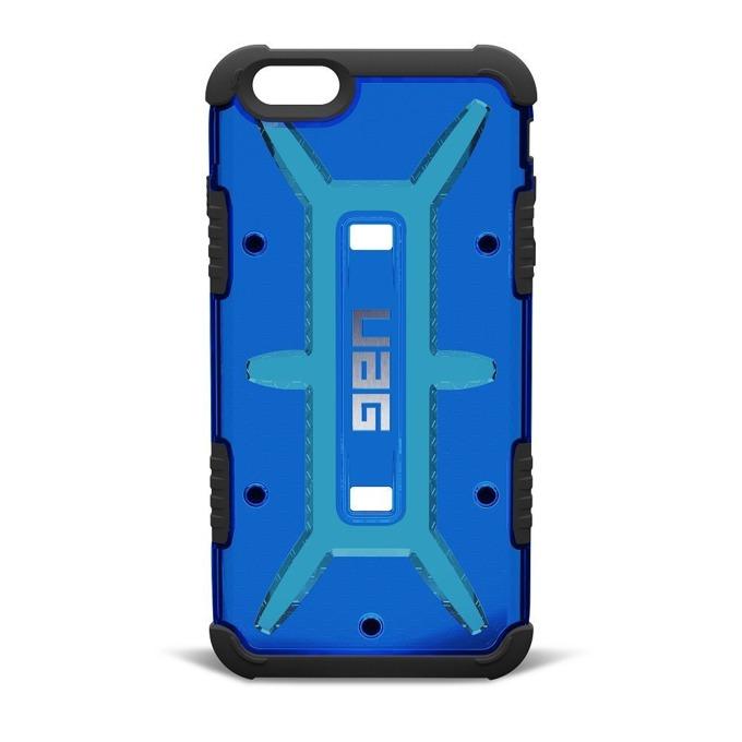 Калъф iPhone 6/6S, страничен протектор с гръб, поликарбонатов, Urban Armor Gear Scout, удароустойчив, прозрачен-син image