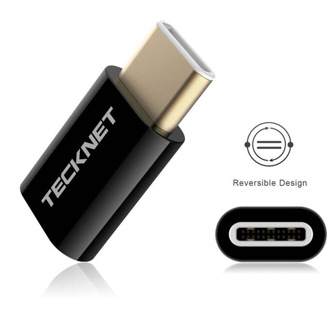 Адаптер TeckNet TF001, от USB C(м) към USB micro B(ж), черен image