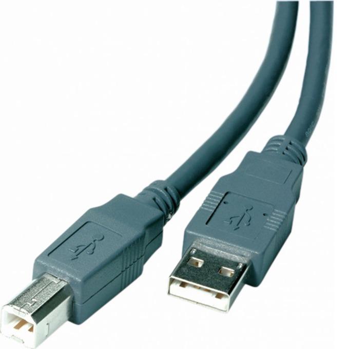 Кабел Vivanco 22228, USB A(м) към USB B(м), 5m, сив image