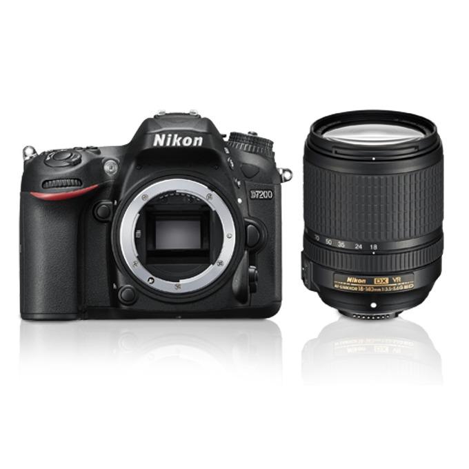 "Фотоапарат Nikon D7200 в комплект с обектив AF-S DX NIKKOR 18-140mm VR, 24 Mpix, 3.2"" (8.12cm), HDMI (Type C), Wi-Fi, SDXC слот image"