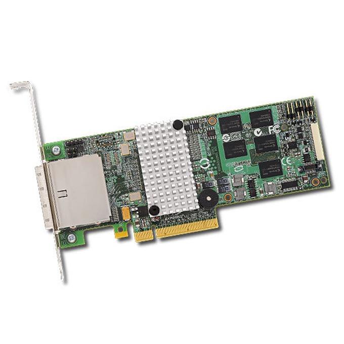 RAID Контролер LSI MegaRAID SAS 9280-8E, PCI-E 2.0 към mini-SAS (SFF8088), SATA/SAS 6Gb/s, 2 портов, 512MB RAM, поддържа RAID 0, 1, 5, 6, 10, 50, and 60 image