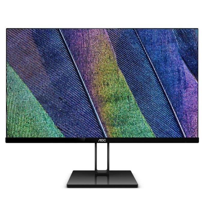 """Монитор AOC 27V2Q, 27""""(68.58 cm) IPS панел, Full HD, 5ms, 20M:1, 250 cd/m2, HDMI, DisplayPort image"""