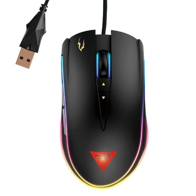 Мишка Gamdias ZEUS P2 RGB, оптична (16000dpi), 8 бутона, USB, черна, гейминг, RGB подсветка image