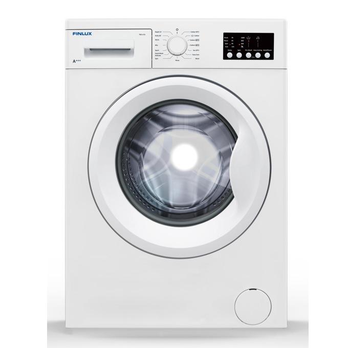 Пералня Finlux FXS 610, клас A+++, 6 кг. капацитет на пералня, 1000 оборота, свободностояща, 60cm. ширина, 15 програми, регулиране на оборотите, бяла image
