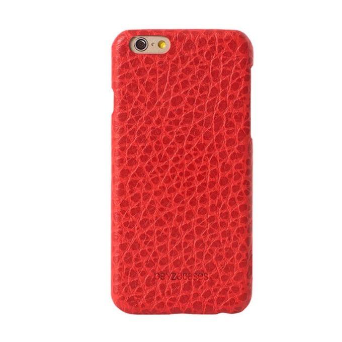 Калъф за Apple iPhone 7/8, кожа, Beyza Feder, червен image