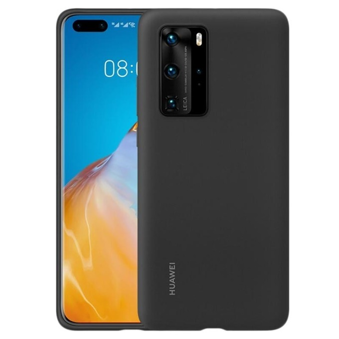 Калъф за Huawei P40 Pro, силиконов, Huawei Silicone (51993797), черен image