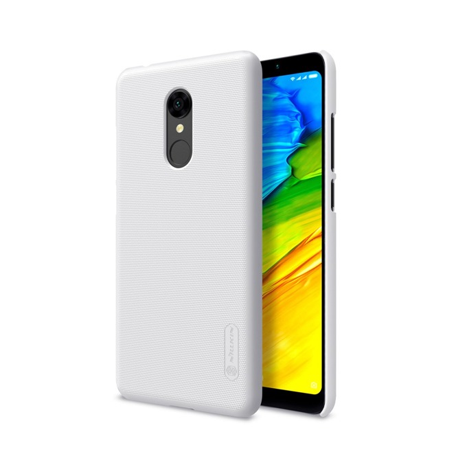 Калъф за Xiaomi Redmi 5 Plus, страничен протектор с гръб, пластмаса, Nillkin Redmi 5 Plus Back cover, удароустойчив, бял image