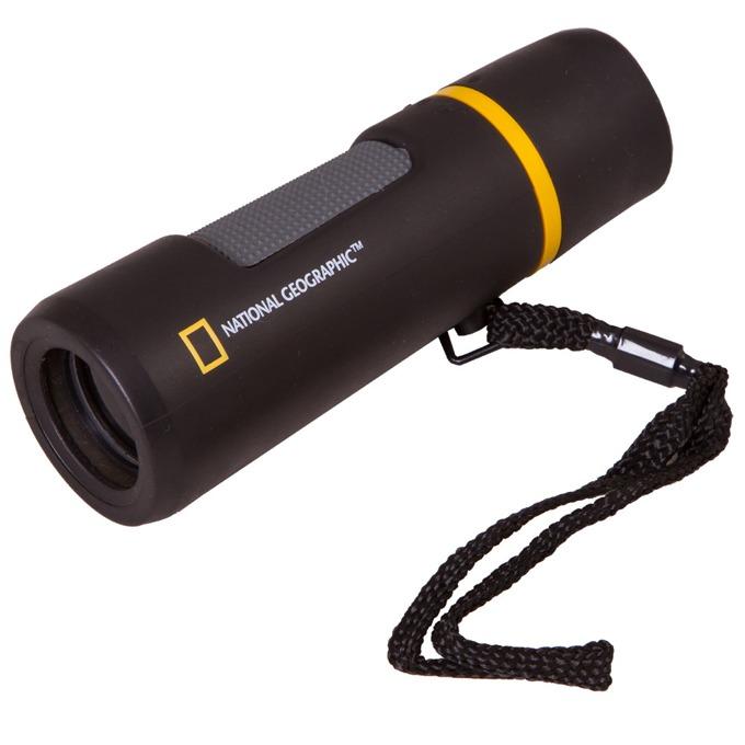 Монокъл Bresser National Geographic 10x25, 10x оптично увеличение, 25мм апертура, гумиран, черен image