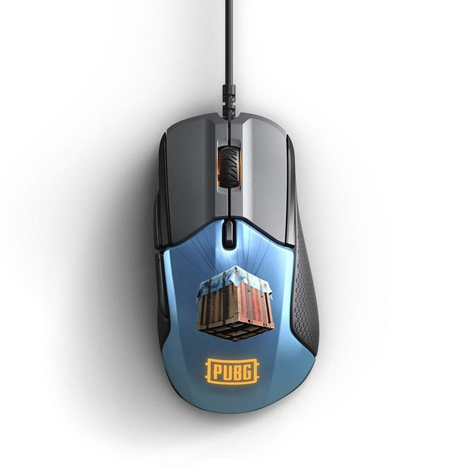 Мишка SteelSeries Rival 310 PUBG Edition, оптична(12000 dpi), гейминг, USB, черна/синя image