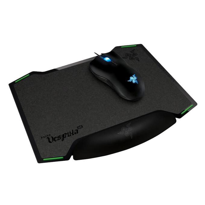 Подложка за мишка Razer Vespula, двустранен (speed/control), гейминг, черна, 320 х 260 x 2mm image