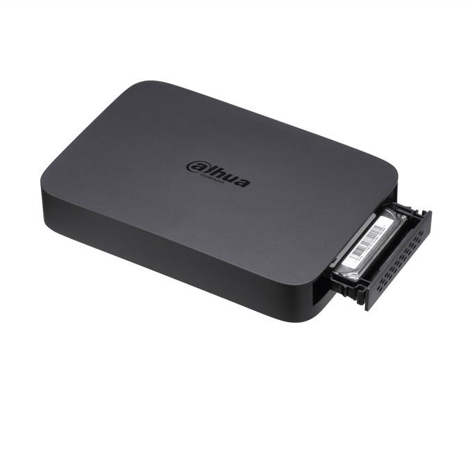 """IP видеорекордер Dahua DH-NVR104, 4 канален, H.264/MJPEG, 1x SATA (up to 1TB (2.5"""" HDD)), 2x USB2.0, 1x LAN100 Mbps, HDMI, VGA image"""