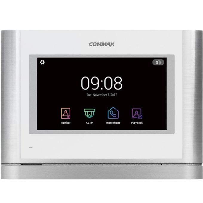 "Видеодомофон Commax CDV-704MA, цветен, 7""(17.78cm) TFT екран, до 2 камери/4 монитора/ 2 CCTV камери, слот за SD карта image"